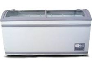 "Omcan 58"" Glass (Curved Top) Ice Cream Freezer"