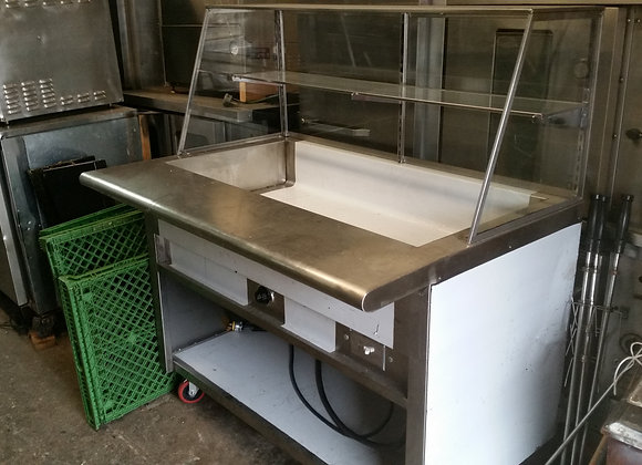 "Eectric- Steam Table  Steam 48"" with sneeze guards used"