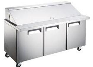 "71"" Mega Top Bain Marie Sandwich Prep Refrigerator"