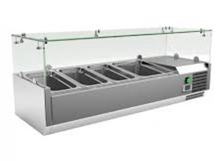"48"" Refrigerated Countertop Salad Bar, Topping Rail"