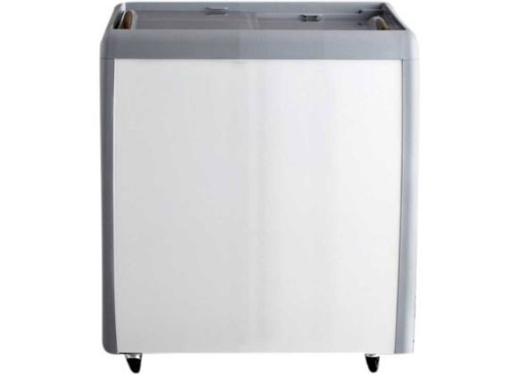 "Coldline 26"" Flat Sliding Glass Top Lid Chest Freezer - 5.5 Cu. Ft."
