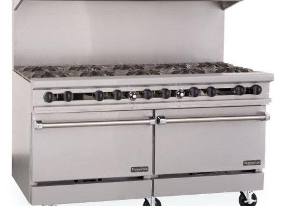 "10 Burner stove 60""HD Gas Range Therma-Tek"
