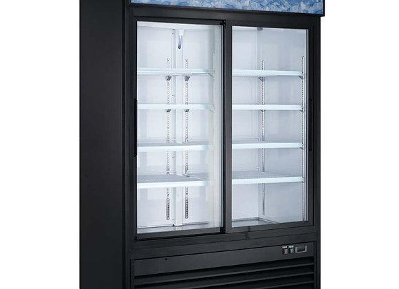 """53"""" Double Glass Sliding Door Merchandiser Refrigerator"""