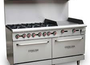 "60"" 6 Burner Gas Range with 2 Ovens with 24"" Griddle"