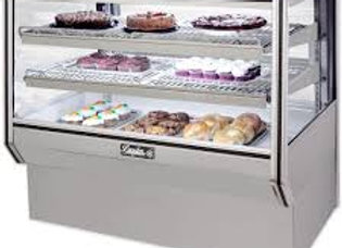 "Leader 48"" Counter Height Dry Glass Bakery Display Case"