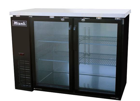 60″ Glass Door Back Bar Refrigerator