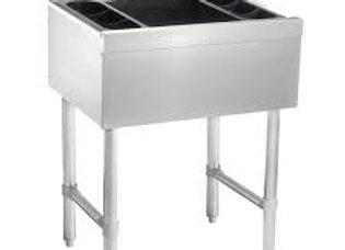 "Ice Bins  24"" Stainless Steel Underbar Ice bin with 3"" Backsplash"