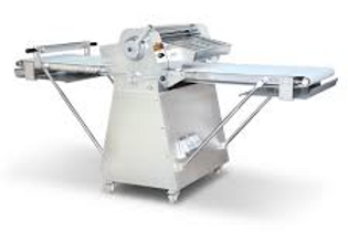 Reversible Floor Model Dough Sheeter with Roller Pin, Stainless Steel