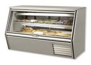 "72"" Refrigerated Counter Height Raw Meat Deli Case with Gravity Coil"