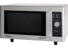 Stainless Steel Commercial Microwave with Dial Controls