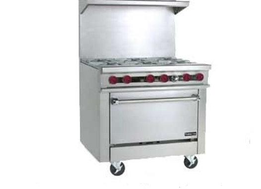 """6 burners stove - Range, 36"""" Therma-Tek"""