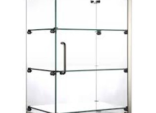 "16"" Vertical Countertop Dry Straight Glass Display Case"