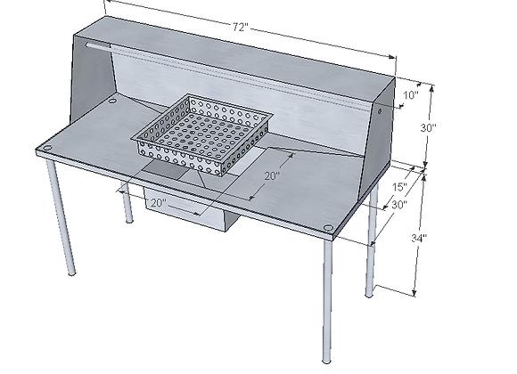 fish table 72x30