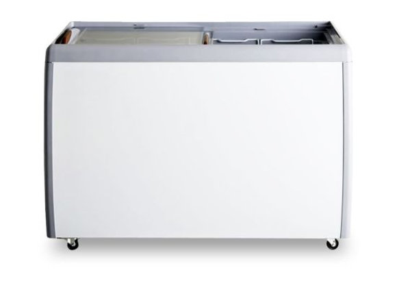"Coldline 40"" Flat Sliding Glass Top Lid Chest Freezer - 9.5 Cu. Ft."