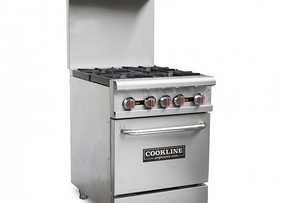 4 Burner Gas Range with Oven