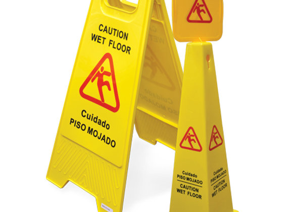 Four Sided Caution Cone - English/Spanish