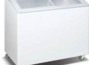 "35"" Curved Glass Top Display Ice Cream Freezer"