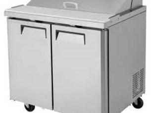 "36"" Mega Top Bain Marie Sandwich Prep Refrigerator"
