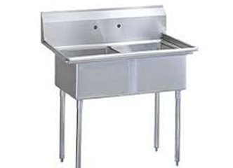 "35"" 2 Compartment Sinks with 15"" x 15"""