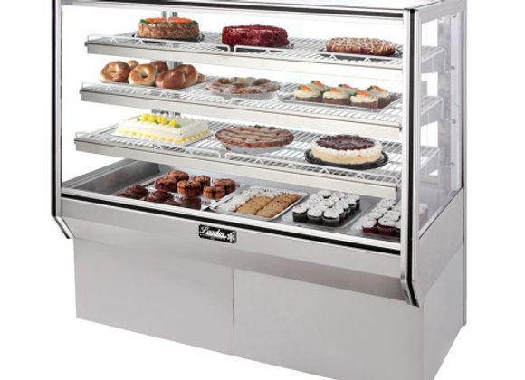 "Leader  57"" High Dry Glass Bakery Display Case"