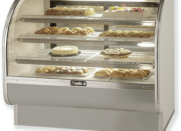 "57"" Dry Curved Glass Bakery Display Case"