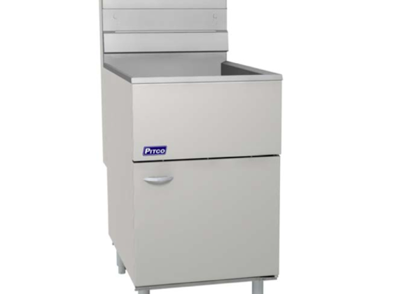 Natural Gas Pitco 65C+S 65-80 lb. Stainless Steel Floor Fryer