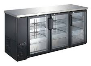 "72"" Glass Door Back Bar Refrigerator"
