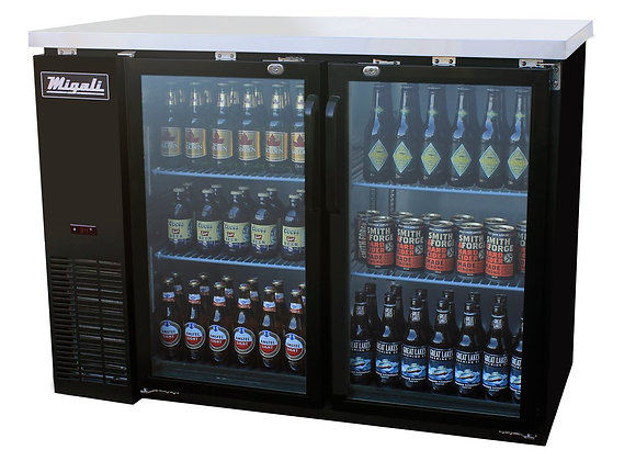 "Migali 48"" Back Bar REFRIGERATOR / Glass Doors"