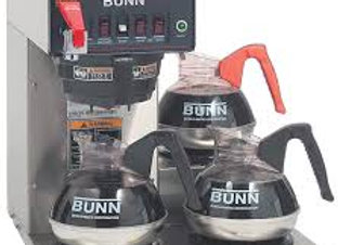 Bunn Coffee Brewer with 3 Lower Warmers - Plastic Funnel
