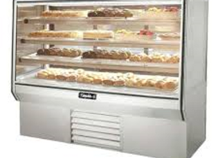"77"" High Refrigerated Glass Bakery Display Case"