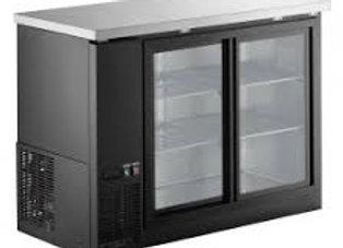 """Coldline 48"""" Sliding Glass Door Refrigerated Back Bar Cooler"""