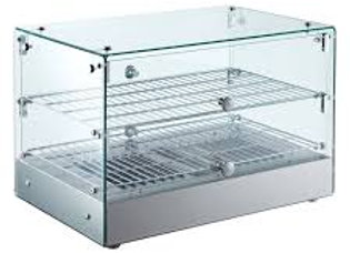 "22"" Straight Glass Countertop Hot Food Display Warmer"
