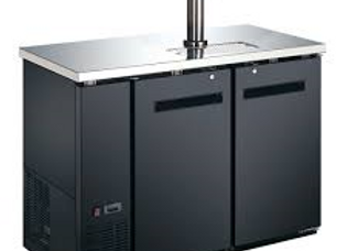 """48"""" Black 1 Tap Refrigerated Direct Draw Beer Dispenser"""