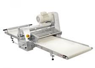 Reversible Countertop Model Dough Sheeter with Roller Pin, Stainless Steel