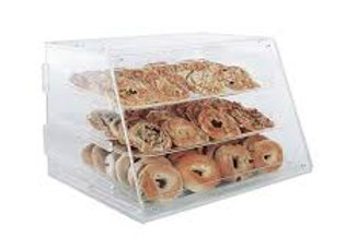 "Counter Top Display Case w/ (3) 12 x 18"" Trays, 21 x 18 x 16.5"", Clear"
