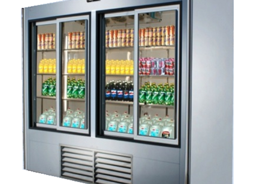 "96"" Sliding Glass Door Reach In Refrigerato"