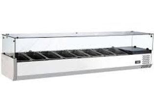 """70"""" Refrigerated Countertop Salad Bar, Topping Rail"""