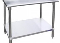 "48"" X 24"" Stainless Steel Work Table W/ Galvanized Under Shelf"