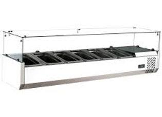 """60"""" Refrigerated Countertop Salad Bar, Topping Rail"""