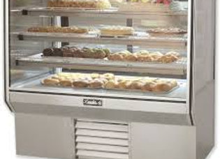 "Leader 77"" High Dry Glass Bakery Display Case"