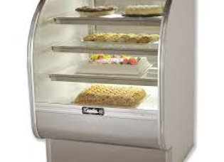 "Leader 36"" Dry Curved Glass Bakery Display Case"