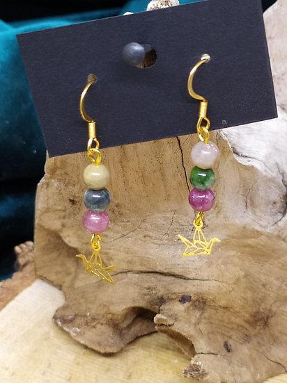 Boucles d'oreilles Tourmaline couleur