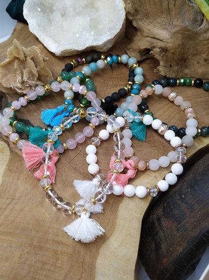 Bracelets pompons
