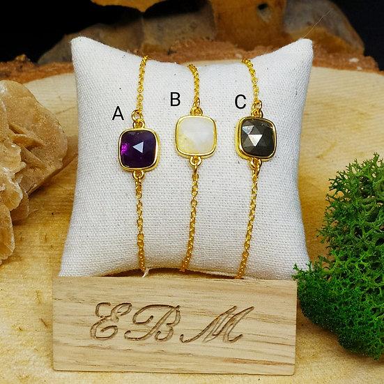 Bracelets chaîne dorée
