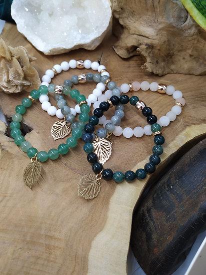 Bracelets feuille