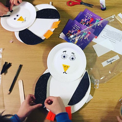 """""""All of Us as We"""" Penguins, (from Antarctica) being created to remind us to #makethepromise to #beki"""