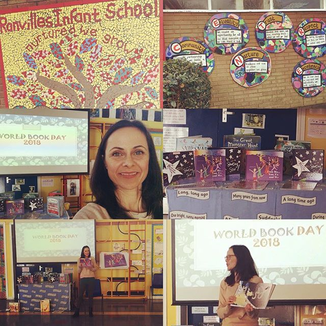 Thank you #ranvillesschool for inviting me to celebrate #worldbookday2018 at your #outstandingschool