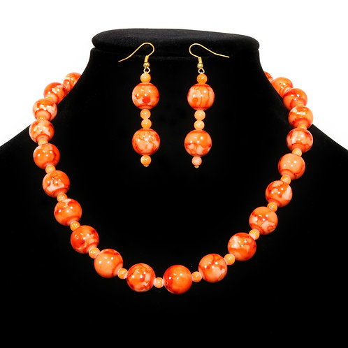 ORANGE PEARL / SOLD WITH EARRINGS