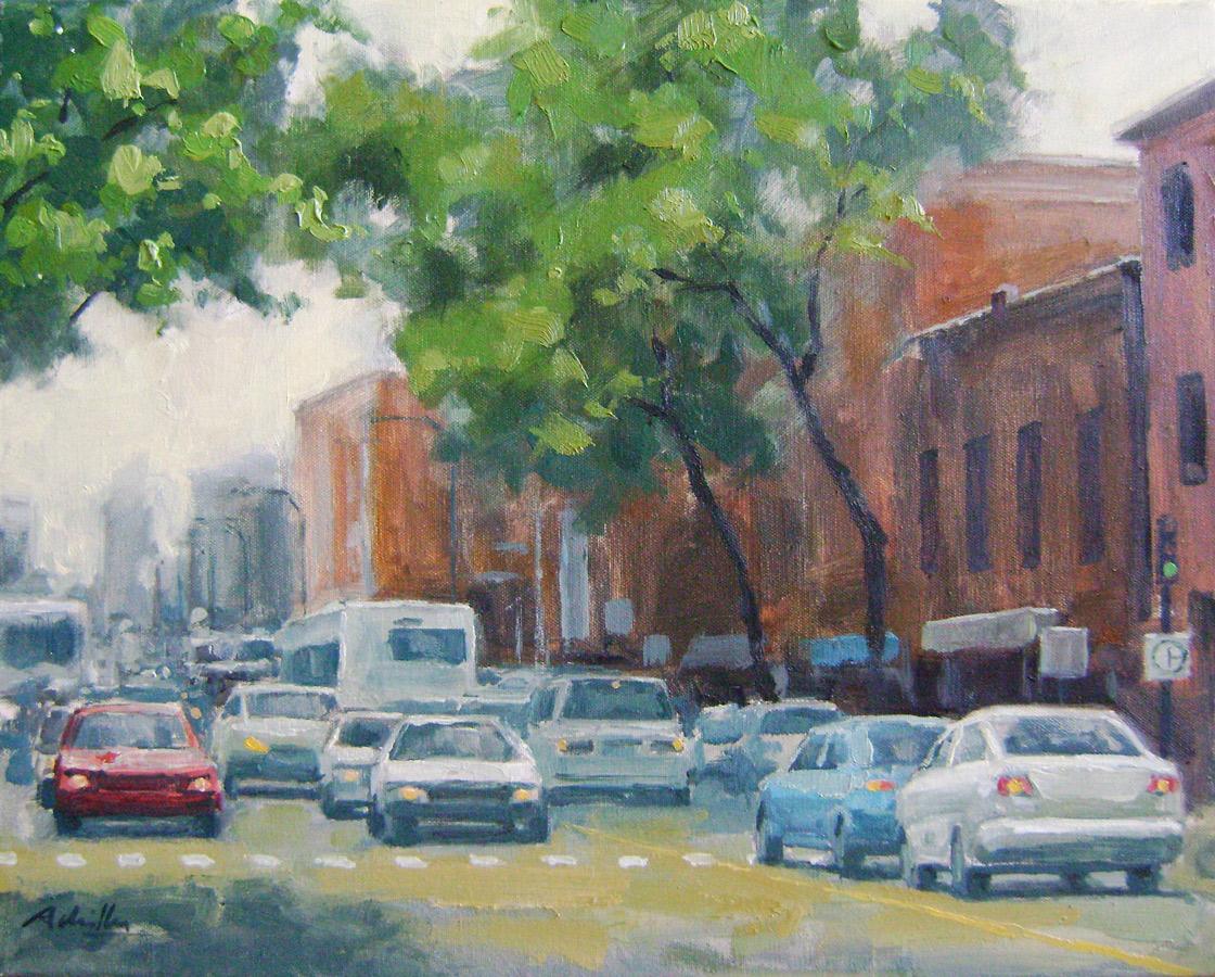 Sur-Boulevard-Rosemond-50x40cm---Huile