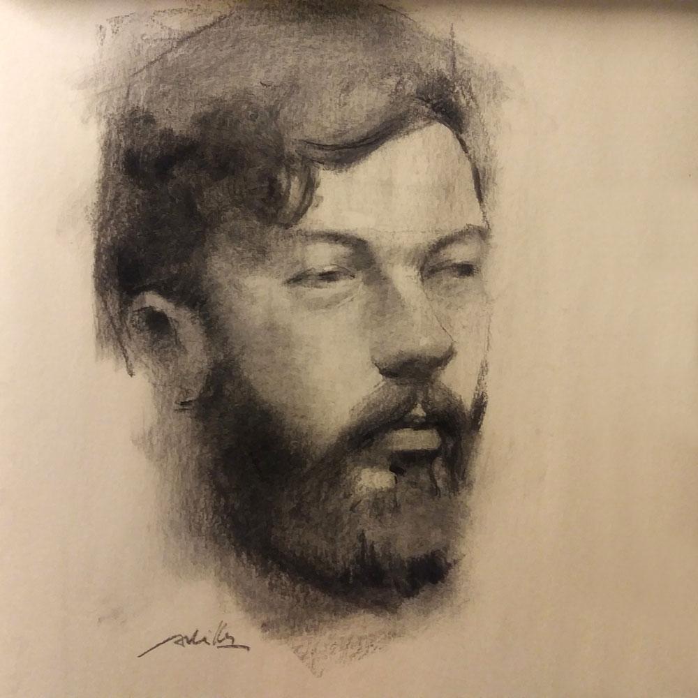 """Portrait / 24x36"""" / Fusain"""